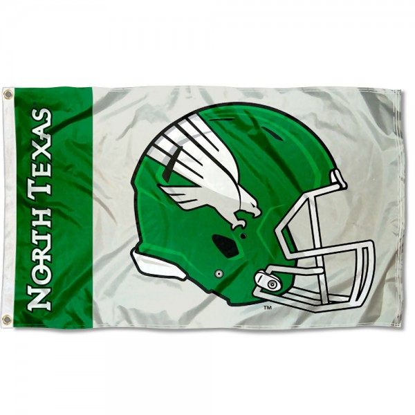 North Texas Mean Green Helmet Flag