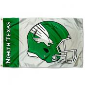 North Texas Mean Green Helmet Flag