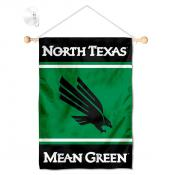 North Texas Mean Green Window Hanging Banner with Suction Cup