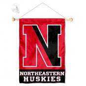 Northeastern Huskies Window Hanging Banner with Suction Cup