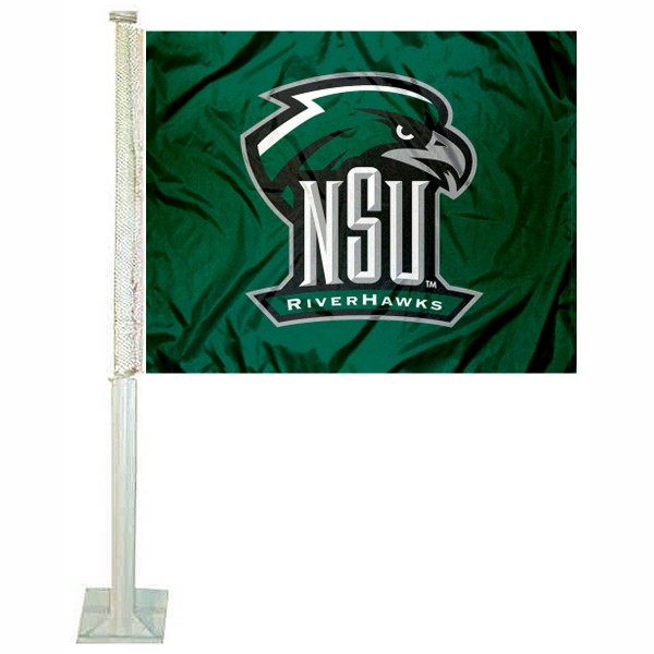 Northeastern State Riverhawks Car Flag