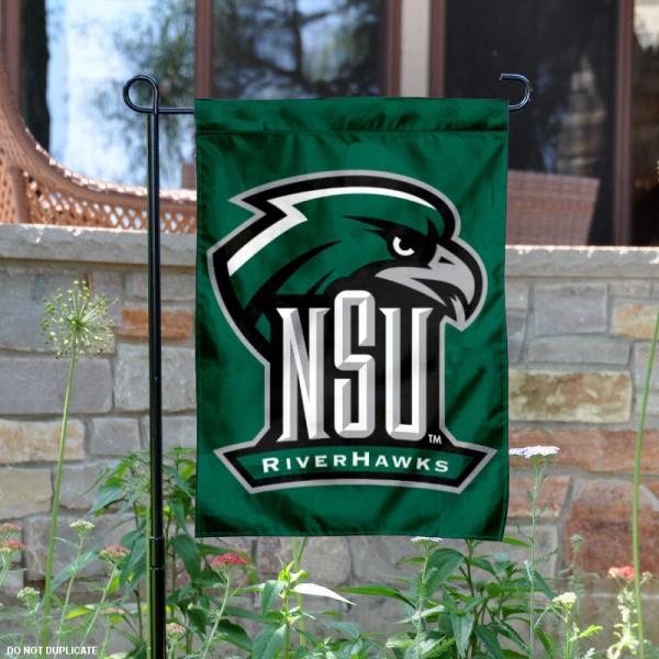 Northeastern State University Riverhawks Logo Garden Banner