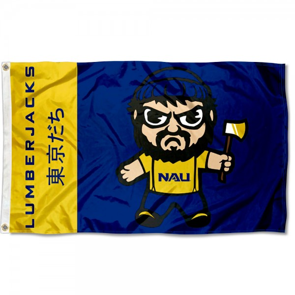 Northern Arizona Lumberjacks Tokyodachi Cartoon Mascot Flag