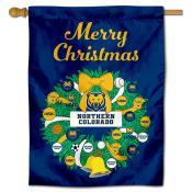 Northern Colorado Bears Christmas Holiday House Flag