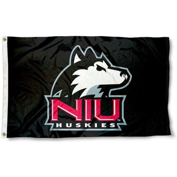 Northern Illinois Huskies Black Flag
