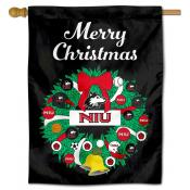 Northern Illinois Huskies Christmas Holiday House Flag