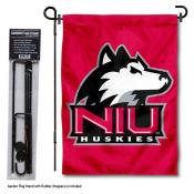 Northern Illinois Huskies Garden Flag and Holder