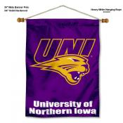 Northern Iowa Panthers Banner with Pole