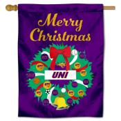 Northern Iowa Panthers Christmas Holiday House Flag