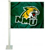 Northern Michigan Wildcats Car Flag