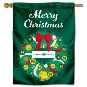Northern Michigan Wildcats Christmas Holiday House Flag