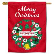 Northwestern Oklahoma State Rangers Christmas Holiday House Flag