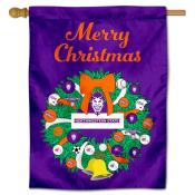Northwestern State Demons Christmas Holiday House Flag