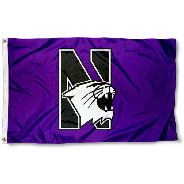 Northwestern University Logo Flag