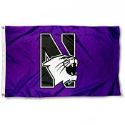 Northwestern University Logo Flag