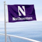 Northwestern University Wildcats Boat Nautical Flag