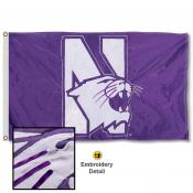 Northwestern Wildcats Appliqued Nylon Flag