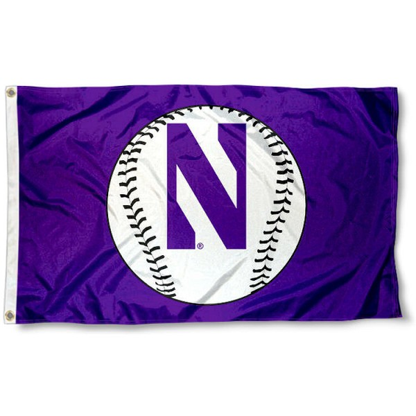 Northwestern Wildcats Baseball Flag
