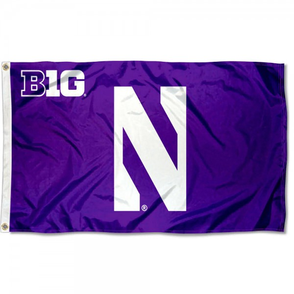 Northwestern Wildcats Big Ten Conference Flag