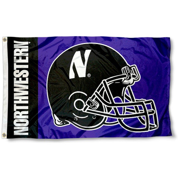 Northwestern Wildcats Football Flag