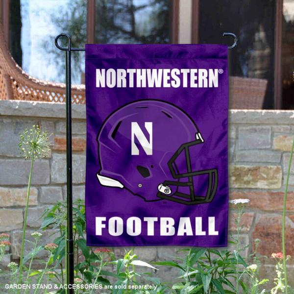 Northwestern Wildcats Football Garden Flag