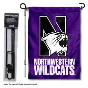 Northwestern Wildcats Garden Flag and Holder