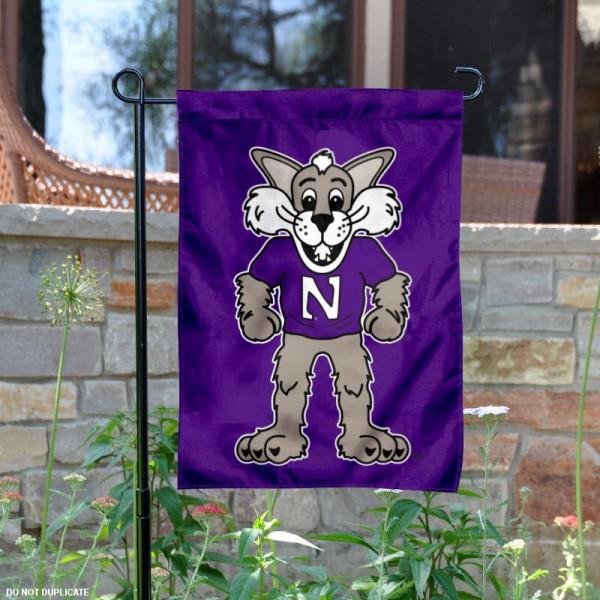 Northwestern Wildcats Mascot Willie Garden Flag