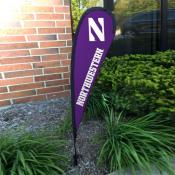 Northwestern Wildcats Mini Teardrop Garden Flag