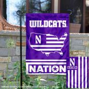 Northwestern Wildcats Nation Garden Flag