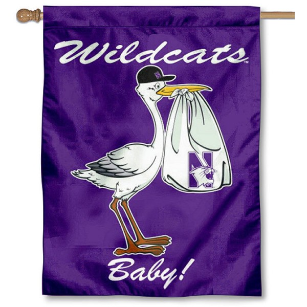 Northwestern Wildcats New Baby Banner
