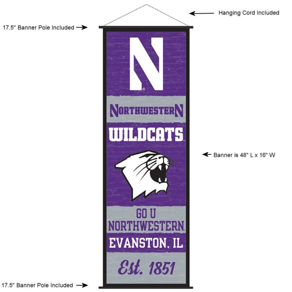 Northwestern Wildcats Wall Banner and Door Scroll