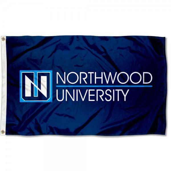 Northwood Timberwolves Academic Logo Flag