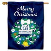 Northwood Timberwolves Christmas Holiday House Flag