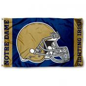Notre Dame Fighting Irish Football Helmet Flag