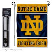 Notre Dame Fighting Irish Garden Flag and Holder