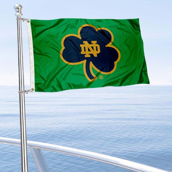 Notre Dame Fighting Irish Green Nautical and Golf Cart Flag