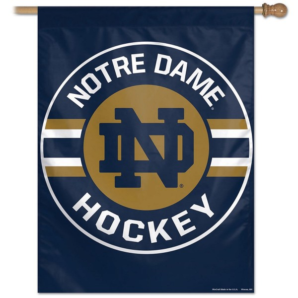 Notre Dame Fighting Irish Hockey Banner Flag