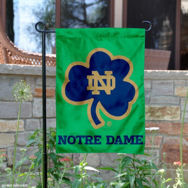 Notre Dame Fighting Irish Shamrock Garden Flag