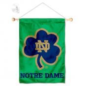 Notre Dame Fighting Irish Shamrock Window Hanging Banner with Suction Cup