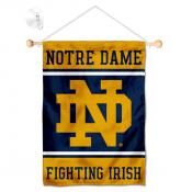 Notre Dame Fighting Irish Window Hanging Banner with Suction Cup