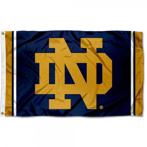 Notre Dame Jersey Stripes 3x5 Foot Flag