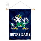 Notre Dame Leprechaun Logo Window Hanging Banner with Suction Cup