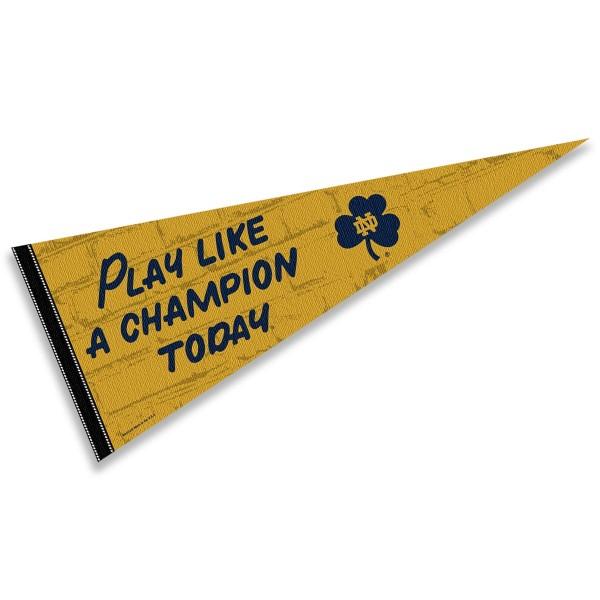 Notre Dame Locker Room Play Like A Champion Pennant