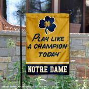 Notre Dame Play Like A Champion Today Garden Banner