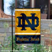 Notre Dame Retro Throwback Garden Banner