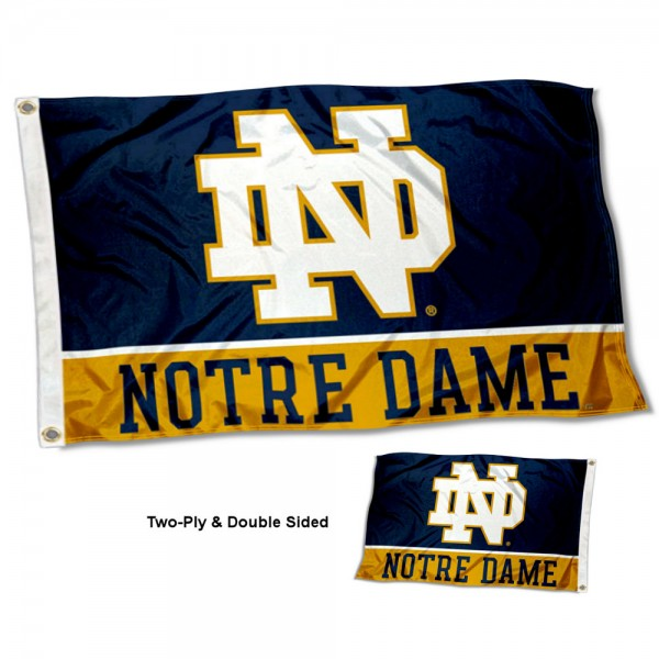 Notre Dame Two Sided 3x5 Foot Flag