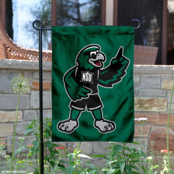 NSU Riverhawks Rowdy Mascot Garden Flag