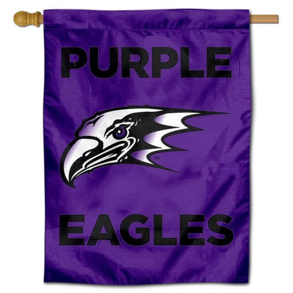 NU Purple Eagles Banner Flag