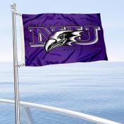 NU Purple Eagles Boat Nautical Flag