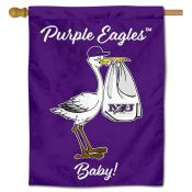 NU Purple Eagles New Baby Banner